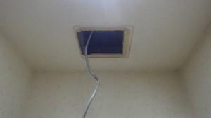 知多郡東浦町 トイレ換気扇取替え工事 施工中