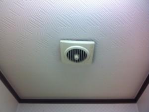 名古屋市北区 換気扇取替工事 浴室副吸い込み口