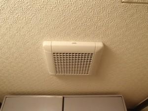 浴室換気扇取替工事 トイレ副吸込口