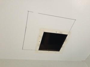浴室暖房換気扇取替工事 撤去後